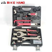 BIKEHAND 18 In 1 Multifunctional Bicycle Tools Kit Portable Bike Repair Tool Box Set Hex Key Wrench Remover Crank Puller