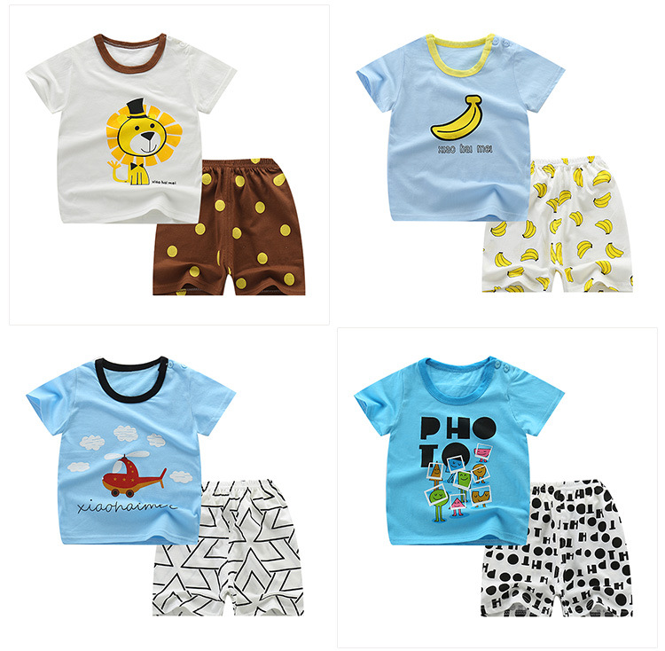 Ladies Clothes Units New Summer time Ladies garments Stable Sample Print Children garments T-shirt + Shorts Kids clothes Clothes Units, Low-cost Clothes Units, Ladies Clothes Units New Summer time...