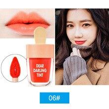 NEW NOVO Cute Ice Cream Lip Tint Makeup Red Liquid Matte Lipstick Pigment Nude L