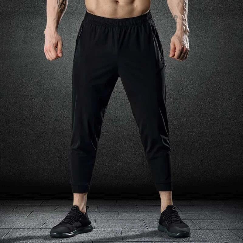 Mens Baggy Sports Gym Running Jogging Fitness Drawstring Quick Dry Harem Pants
