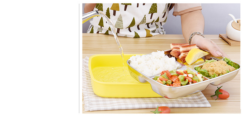 304 Stainless Steel Cartoon Bento Box For kids School Portable Cute Plastic Lunch Boxs Japanese Style Sushi Food Containers 21