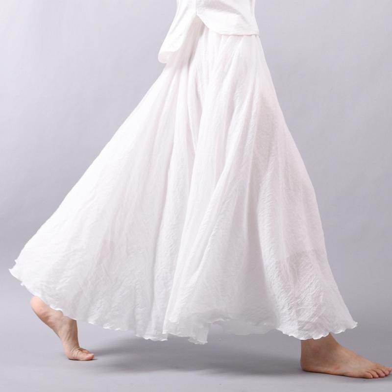 Ny mode kvinder Boho Vintage plisseret Maxi nederdel 2018 - Dametøj - Foto 3