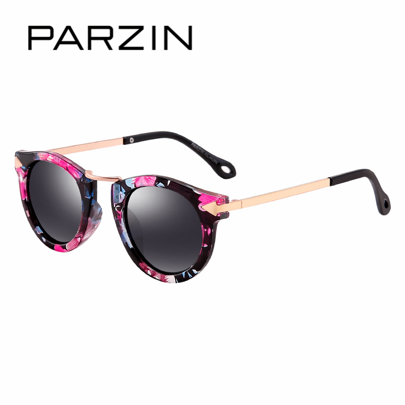 PARZIN Brand Quality Children Sunglasses Girls Round Real HD Polarized Sunglasses Boys Glasses Anti-UV400 Summer Eyewear D2005 2017 new brand mans 100% pure b titanium glasses man ultra light full frame polarized sunglasses men anti uv400 eyewear