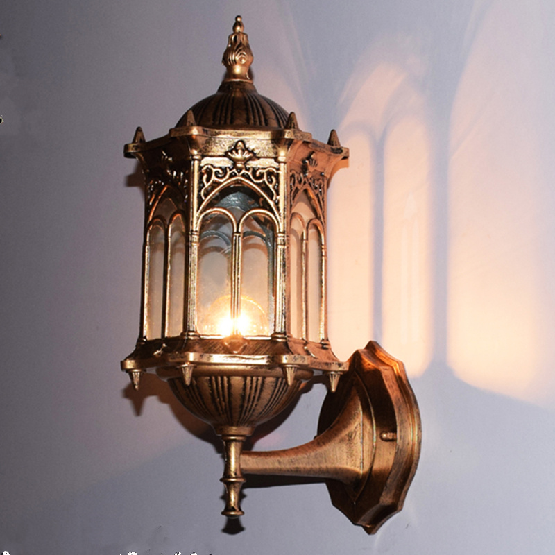 European antique E27 waterproof wall light sconce up down ... on Modern Outdoor Sconce Lights id=93586
