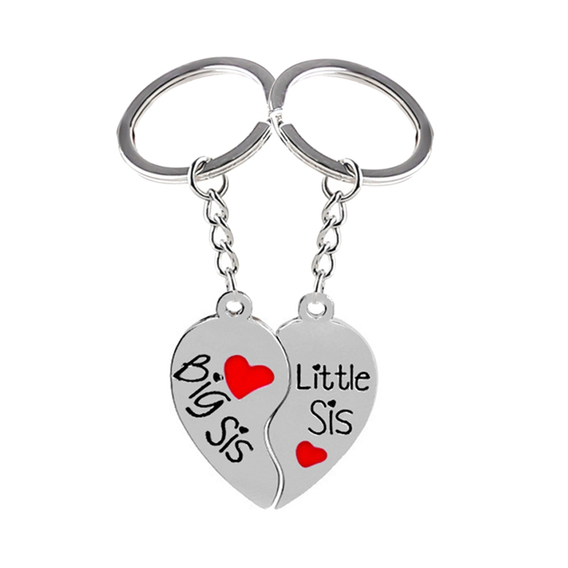 1 пара, брелок для ключей в форме сердца