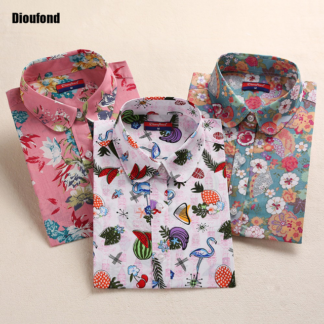 Floral Summer Blouse With Long Sleeves – Plus Sizes