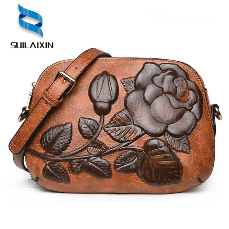 new arrival designer women shoulder Bags small embroidery embossing printing retro floral crossbody bag High quality ...