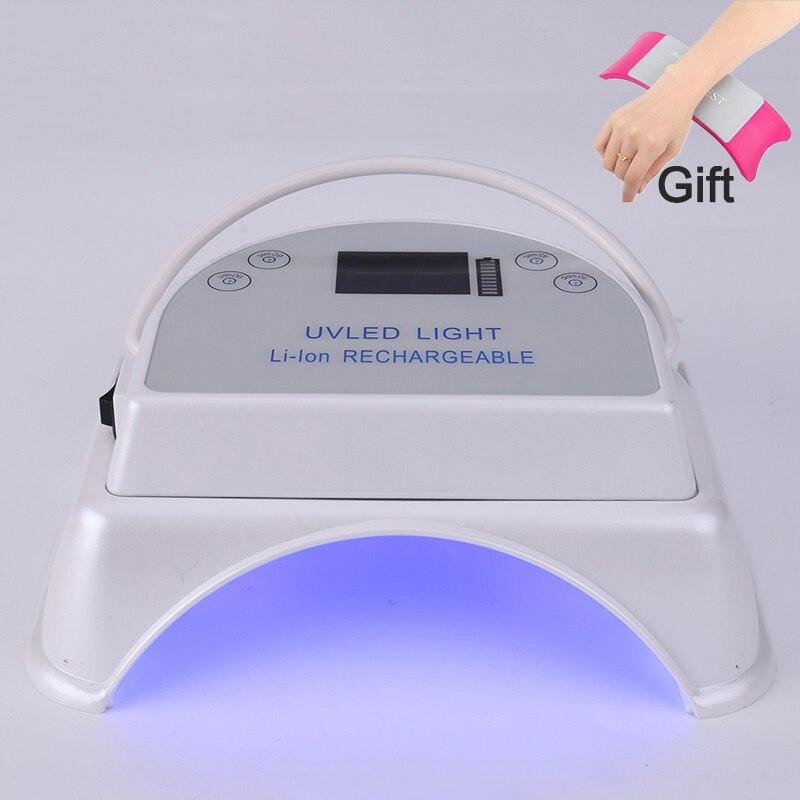 LED lampe Lampe UV Pour Ongles Sèche-Soleil Lampe de Glace Pour Manucure 64 w Sans Fil 5000 mah Rechargeable Pour Tous Les gel Nail Art Outils UV Sèche-