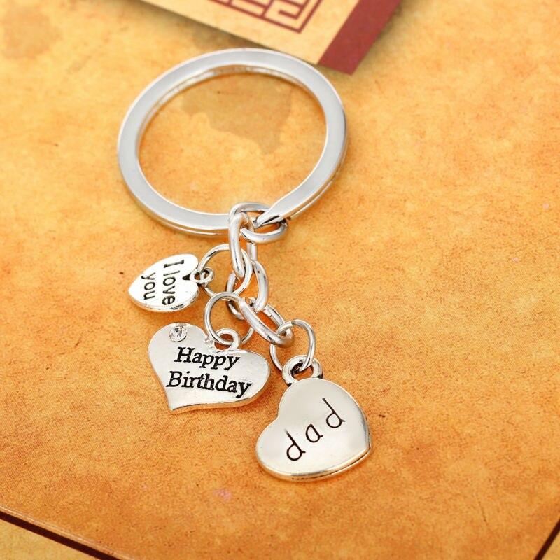 Eccezionale Cristallo del cuore Buon Compleanno Papà Argento Placcato  QV61