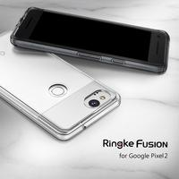 Ringke Fusion For Google Pixel 2 Clear PC Back Cover And Soft Frame Hybrid For Pixel
