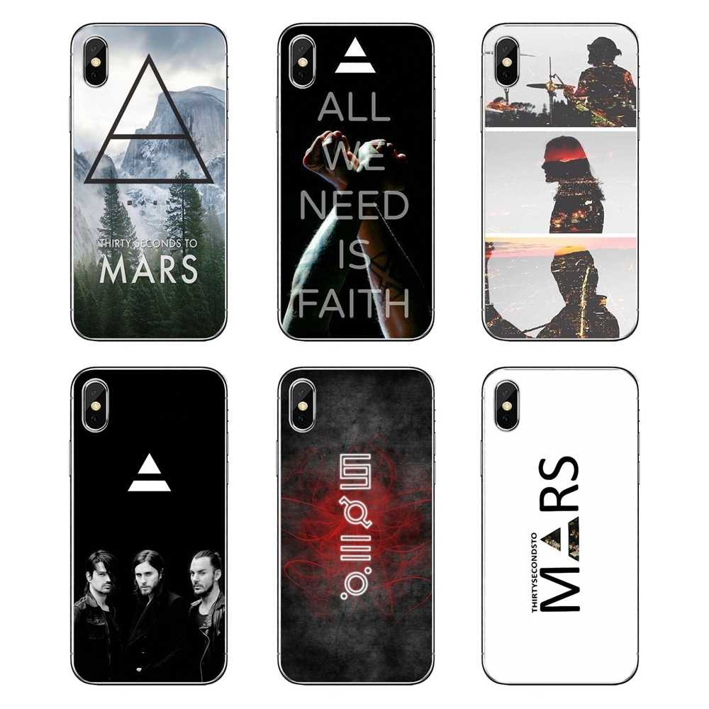 3HJ 30 Seconds To Mars Jared Leto Para iPod Touch iPhone 4 4S 5 5S 5C SE 6 6 S 7 8 X XR XS Mais MAX Casca Mole Transparente Cobre