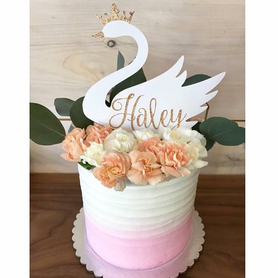 Flamenco Brillo Cake Topper Personalizada Cualquier Nombre Cualquier Edad