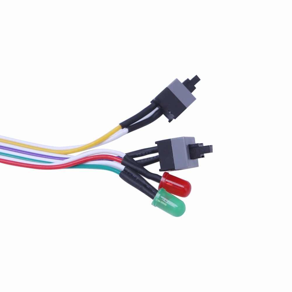 65 سنتيمتر كمبيوتر مكتبي PC حالة ATX السلطة على إعادة تعيين التبديل مع كابل HDD مصباح ليد