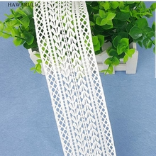 HAWARULU 2yard DIY White hollow water soluble milk silk wedding dress accessories lace fabric strips decoration
