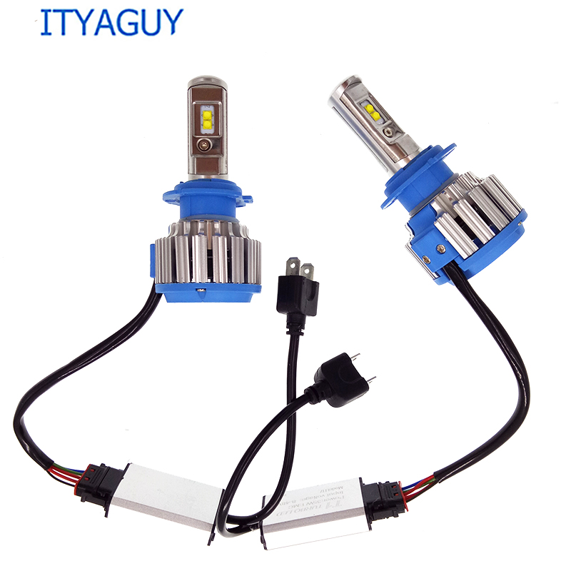 2pcs 2017 New Plug&Play T1 Led Car Headlight H1 H3 H4 H7 H8 H9 H11 9004 9005 9006 880 881 DRL Daytime Running Light canbus lamp 12v led light auto headlamp h1 h3 h7 9005 9004 9007 h4 h15 car led headlight bulb 30w high single dual beam white light