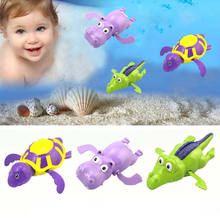 2019 Newest Hot Wind Up Clockwork Cute Crocodile Turtle Hippo Toddler Kid Baby Bathing Swimming Favor Bath Time Play Toys(China)