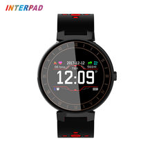 New Arrival Interpad Smart Bracelet IP68 Waterproof Sport Fitness Wristband Blood Pressure Smartband Heart Rate Monitor For Men(China)
