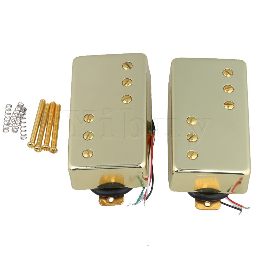 Yibuy 2pcs Gold 70x36x18mm 7.2K 15K Humbucker Double Coil Pickups Without Frame for Electric Guitar yibuy gold vintage lipstick tube pickup for single coil electric guitar