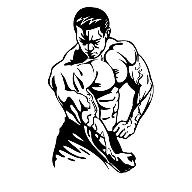 Bodybuilder Crossfit Cool Decor Sticker Boys Room Sport Vinyl Wall Decals For Gym Bodybuilding Stickers