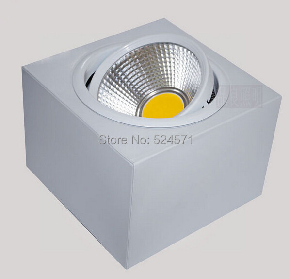 10pcs/lot 20W COB Square LED Downlight Ceiling LED Lamp 2000lm ,110v 220v LED COB Downlight Ceiling warm white cold white new australian style 20w new very bright led cob chip downlight recessed led ceiling light spot light lamp white warm white