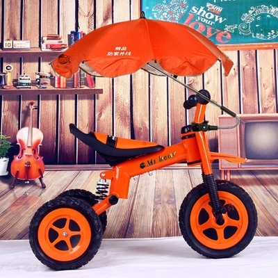 Children pedal three-wheeled cart inflatable wheel package free mail Tricycle security suspension off-road bikes three wheel with two seater twin dolls kang pedal three wheeled cart with awning four in one function