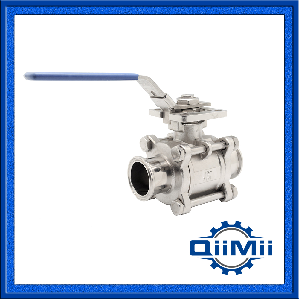 2.5'' SS304 clamped three pieces non-retention stainless steel ball valve,sanitary ball valve  2 dn50 sanitary ball valve with clamped ends ss 304 ball valve stainless stainless steel ball valve sanitary ball valve