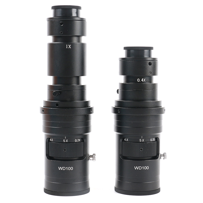 200X 500X FHD 0 7X 5X Adjustable Magnification Continuously Variable C mount Zoom Lens For HDMI