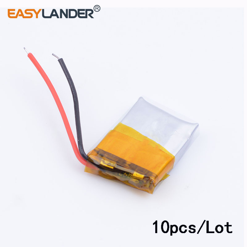 10pcs/Lot 401215 <font><b>50MAH</b></font> <font><b>3.7V</b></font> polymer lithium <font><b>battery</b></font> For MP3 MP4 Bluetooth headset small toy sound Bluetooth Headset 3D glasses image