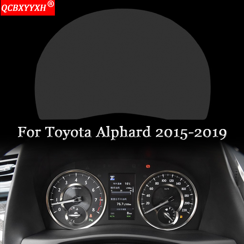 Car Dashboard Paint Protective Film Stickers Light Transmitting Automobiles Auto Accessories Fit For Toyota Alphard 2015-2019