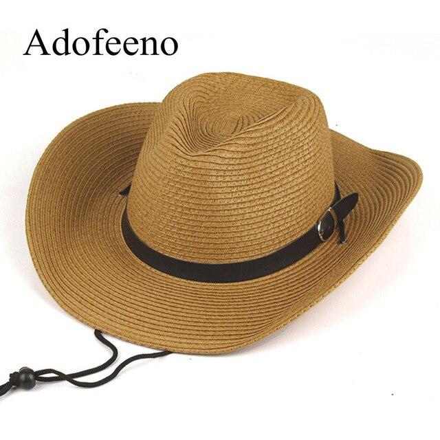 Adofeeno estate cappelli da sole per gli uomini delle donne cappelli di  paglia tesa larga spiaggia adc04688f04d