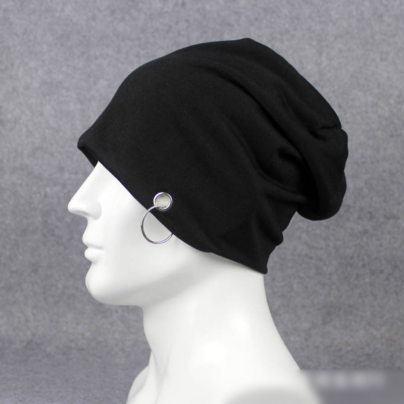 Male Summer Hat Fashion Thin Cotton Hip Hop Cap Outdoor Head Cap Female Fashion Caps Metal Ring Cool Unisex