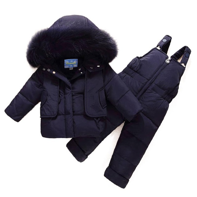 Russian Winter Children Suit Toddler Boys Girl Clothes Sets Children Duck Down Jacket Winter Warm Hooded Newborn Infant Snowsuit