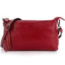 Bolsas Femininas Bolsas De Marcas Famosas 2018 Genuine Leather Handbag Hot Brand Fashion Tassel Style Ladies Messenger Bags