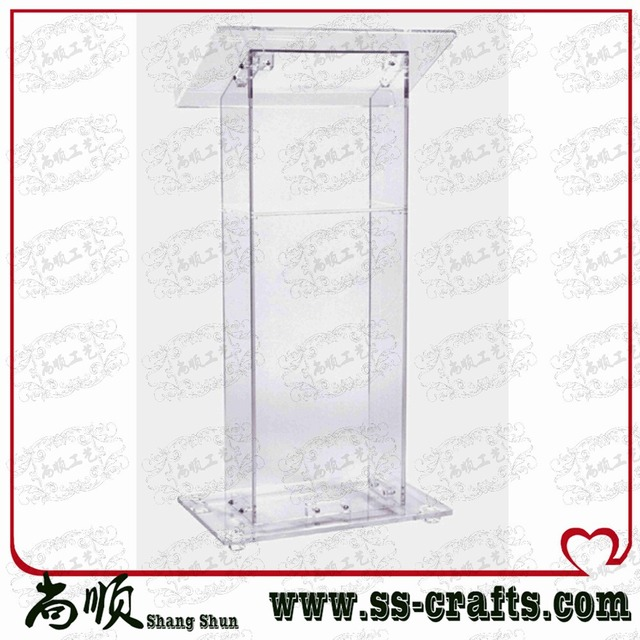 Wholesale Fre shiping  Acrylic Podium Acrylic Church Rostrum Portable Acrylic Lectern cheap church podium