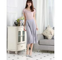 201 Summer Women Elegant Pleated Skirt High Waist Long Female Ladies Quality Midi Black Pink Saia