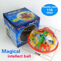 118 Steps 3D Magic Intellect Ball Educational Classic Toys Marble Puzzle Game Perplexus Magnetic Balls IQ
