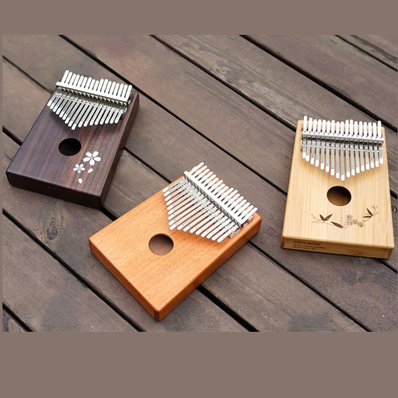 Enya 17 Toetsen Kalimba met bag Solid Mahonie Palissander Bamboe Duim Piano Mbira Calimba muziekinstrumenten - 5