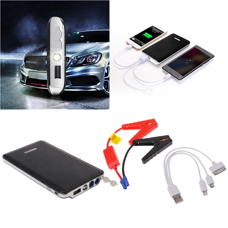 2017 Portable LED Car Jump Starter Battery Charger Booster Emergency Power Bank