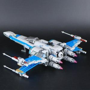 Image 5 - Звездные войны 75149 75218 блоки первый заказ Poe X wing Fighter модель строительные блоки Звездные войны кирпичи игрушки подарок детям