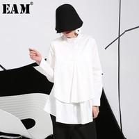 2015 Europe And Large Size Women Autumn Spring Long Sleeved White Shirt Blouse Loose Women Loose