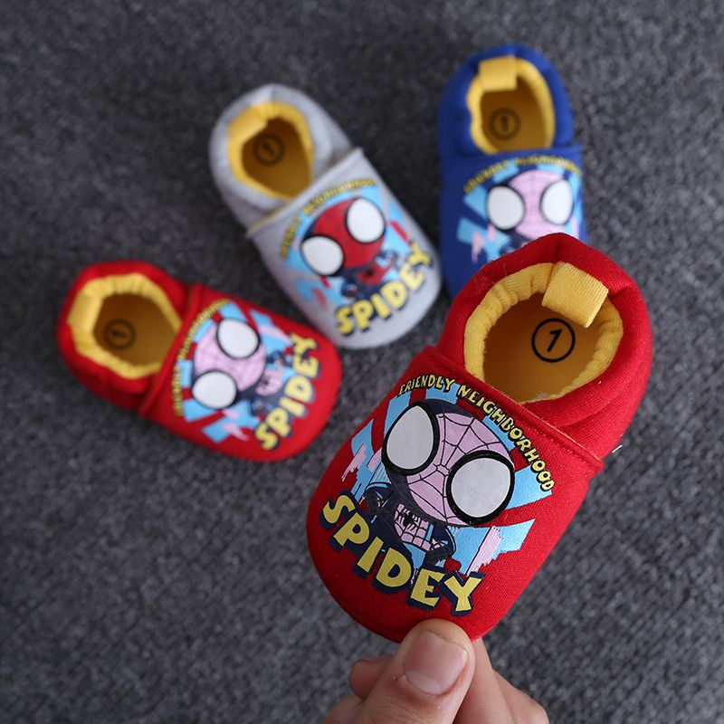 2017 New Arrive Lovely Bat Spider Man Infant Shoes Newborn Baby Boys Girls Shoes Cotton Toddler