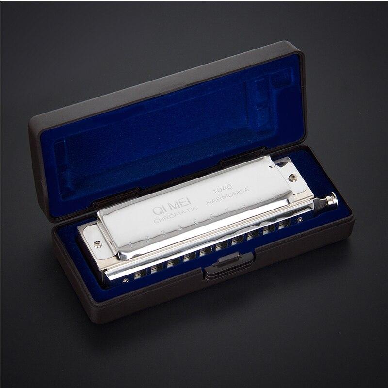 Chromatic Harmonica Mouth Organ French Harp Phosphor Bronze Reeds 10 Holes 40 Tone Key of C