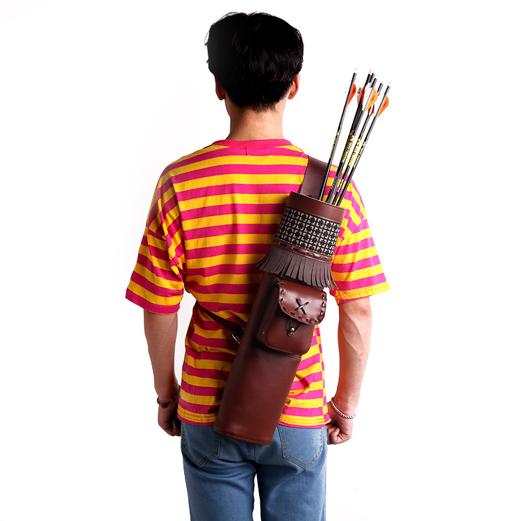 Hunting Bow Archery Arrow Pot Archery Bag Leather Quiver for Arrows free shipping
