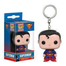 Funko Pop Bolso DC Quadrinhos Chaveiro Superman Action Figure Toy(China)