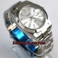 40mm bliger  Silver dial luminous saphire glass  polished bezel MIYOTA Automatic movement men's watch