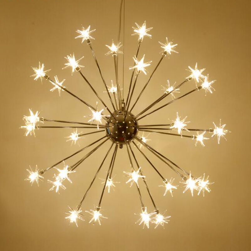 Led chandelier romantic snowflake hanging lamp nordic star lustres led chandelier romantic snowflake hanging lamp nordic star lustres cristal living room lighting fixtures modern pendant lamp in chandeliers from lights mozeypictures Choice Image