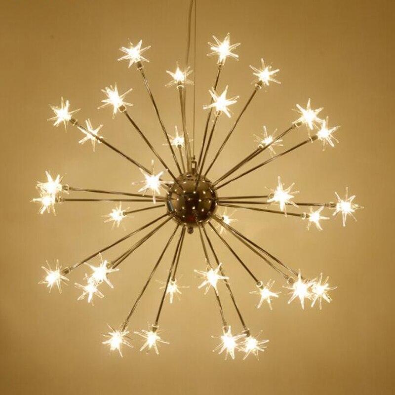 Nordique Led Suspension Lampe Flocon Neige Romantique De Lustre RLA5j34