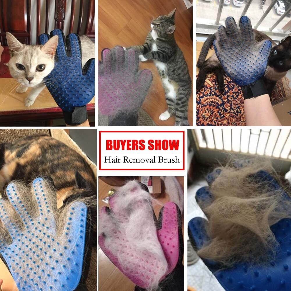 Перчатка для шерсти домашних животных, расческа, стрижка кошек и собак, перчатка для чистки волос, Массажная щетка для удаления волос, товары для животных, аксессуары для кошек