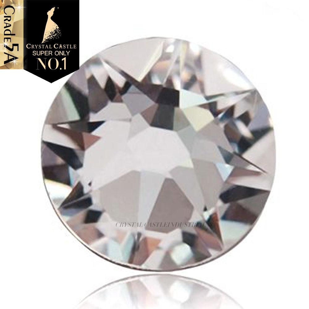 Хрустальный замок Стразы 6A лучшая 2078 прозрачная белая искусственная железная поверхность камни стразы кристалл для одежды