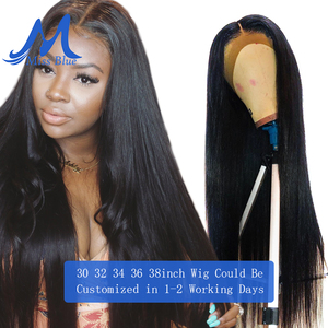 Image 1 - Missblue 30 32 34 36 38 40 inch Lace Front Human Hair Wigs For Black Women Brazilian Remy 360 Lace Frontal Wig With Baby Hair